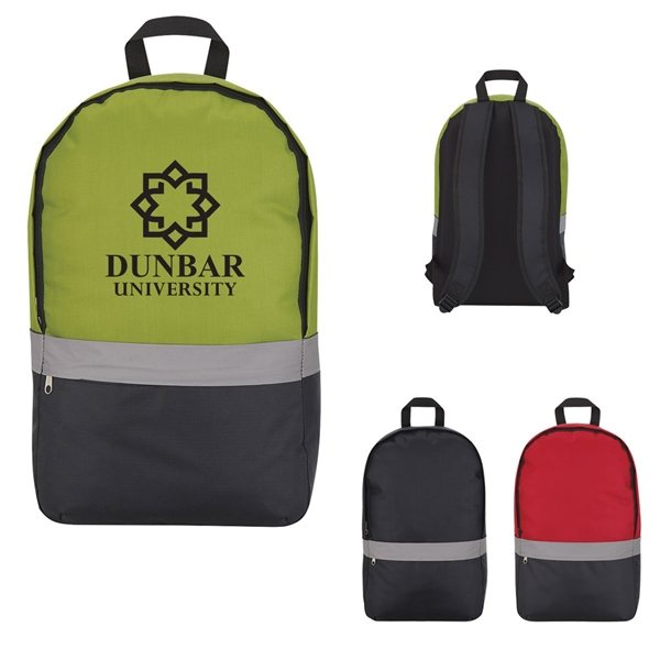 Promotional Reflective Strip Backpack