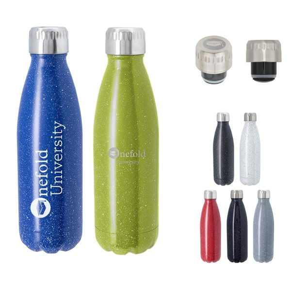 Promotional 16 oz Speckled Swiggy Stainless Steel Bottle