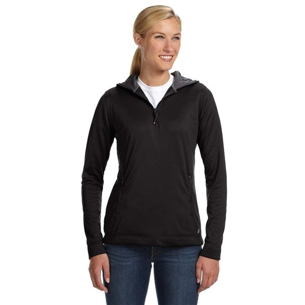 Promotional Russell Athletic Ladies Tech Fleece Quarter - Zip Pullover Hood
