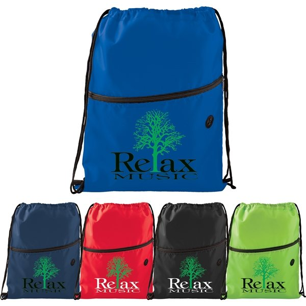 Promotional Insulated Zippered Drawstring Bag