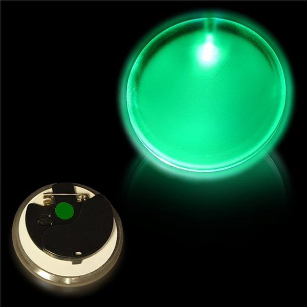 Promotional 2 Light - Up Pin Badges - Green