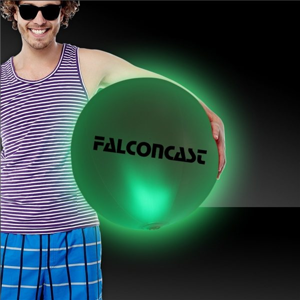 Promotional 30 LED Inflatable Beach Ball - Green
