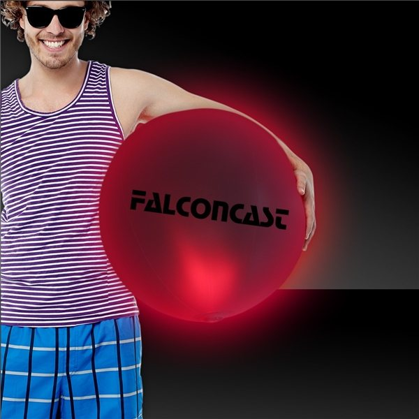 Promotional 30 LED Inflatable Beach Ball - Red