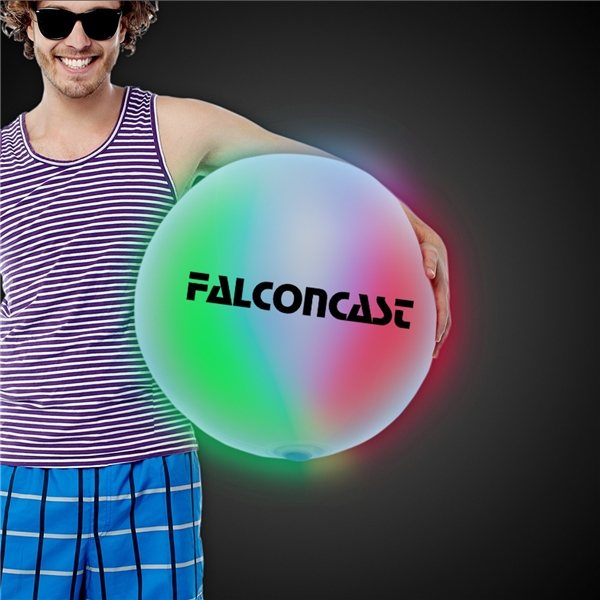 Promotional 30 LED Inflatable Beach Ball - Multi - Color