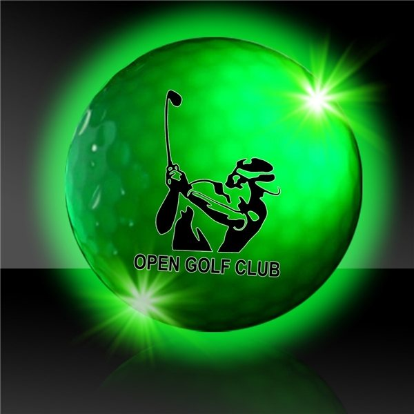 Promotional Green Night Flyer Golf Ball