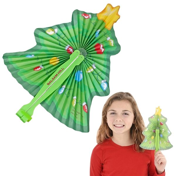 Promotional Christmas Folding Fan