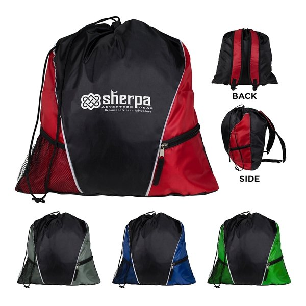Promotional Sherpa Drawstring Backpack