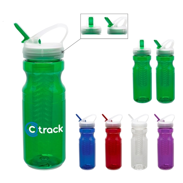 Promotional 24 oz Polyclear Fruit Fusion Bottle