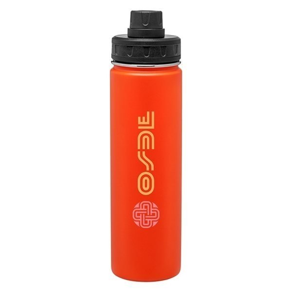 Promotional 24 oz H2go Quest - Powder - Matte Orange