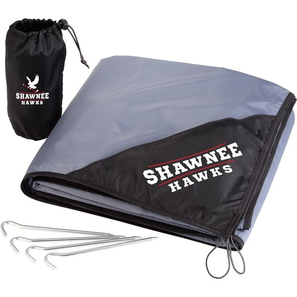 Promotional Oversized Lightweight Picnic Blanket with Stakes