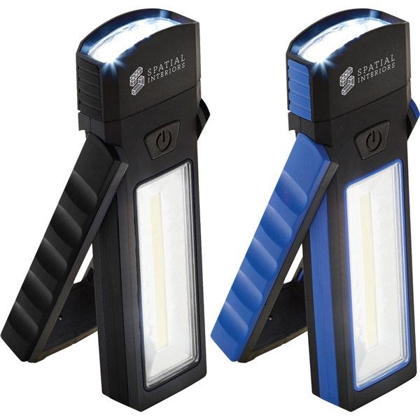 Promotional COB Magnetic Worklight with Torch and Stand