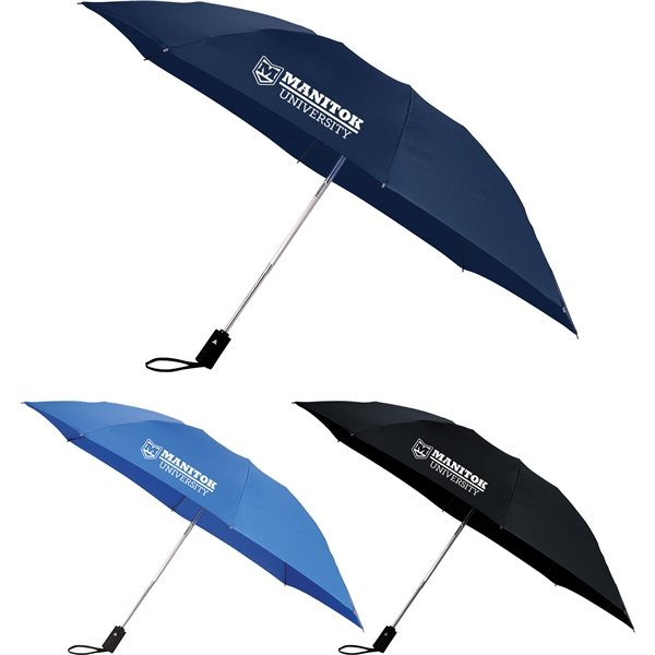 Promotional 46 3- Section, Folding Inversion Umbrella