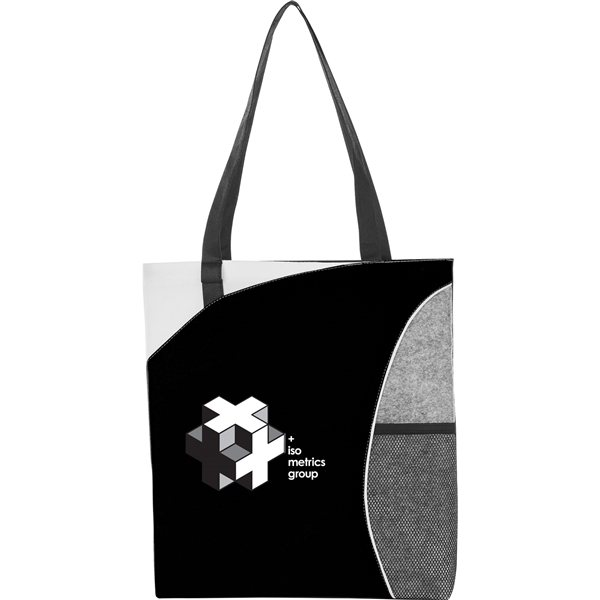 Promotional Mesh Pocket Non - Woven Convention Tote