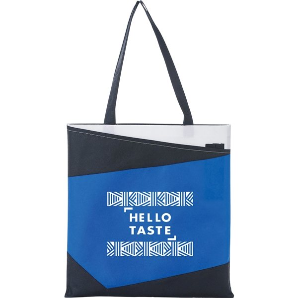 Promotional Color Angle Non - Woven Convention Tote