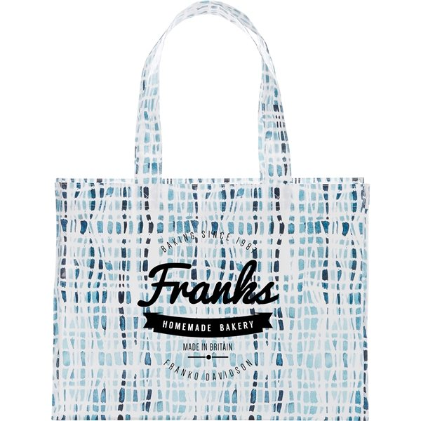 Promotional Cross Hatch Laminated Shopper Tote
