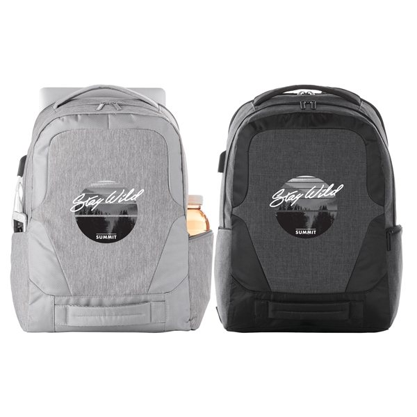Promotional Overland 17 TSA Computer Backpack w / USB Port