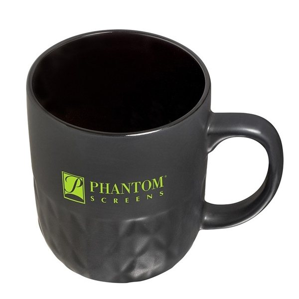 Promotional 16 oz Textured Ceramic Mug