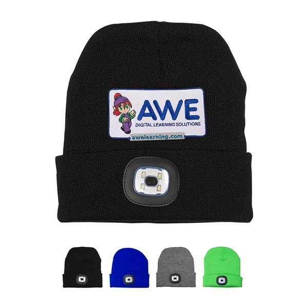 Promotional LED Acrylic Knit Beanie