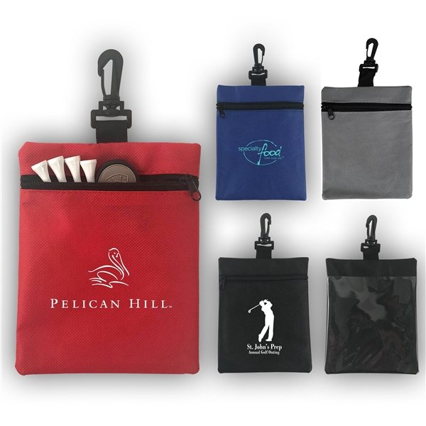 Promotional Non - Woven Zippered Sport Accessory Pouch