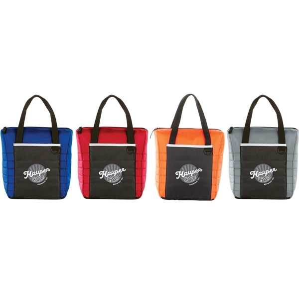 Promotional Quilted 12- Can Lunch Cooler