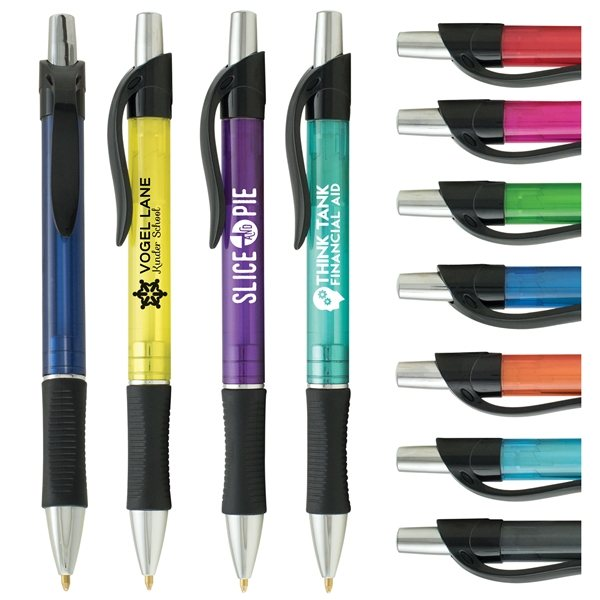 Promotional Stylex Crystal Translucent Barrel and Gel - Like Eversmooth Ink Pen