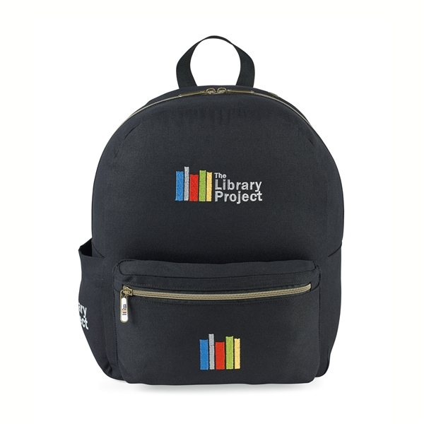 Promotional Russell Cotton Backpack - Black