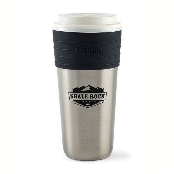 Promotional Thermos(R) Coffee Cup Insulator - 20 oz - Stainless Steel