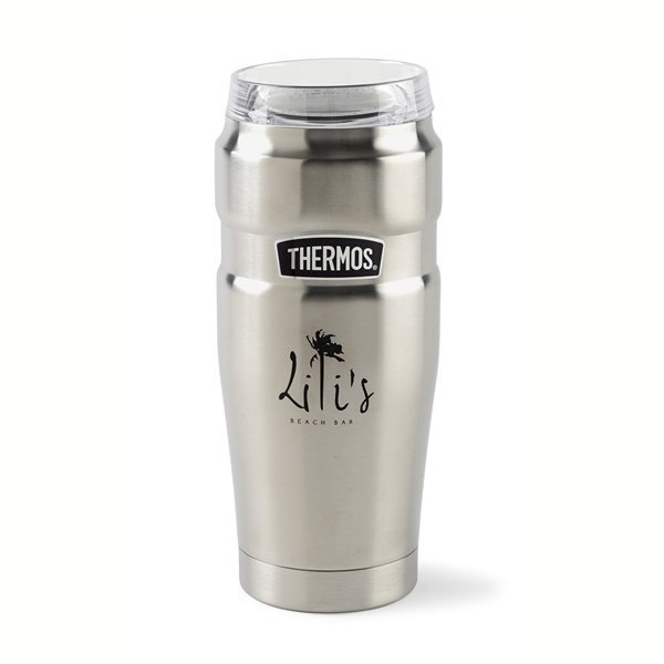 Promotional Thermos(R) Stainless King(TM) Tumbler with 360 Drink Lid - 20 oz - Stainless Steel