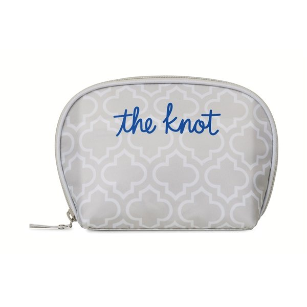Promotional Mia Cosmetic Bag - Light Grey Moroccan Pattern
