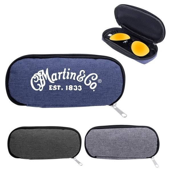 Promotional Zippered Eyeglass / Sunglass Pouch