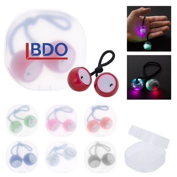 Promotional Light Up Finger Clackers In Case