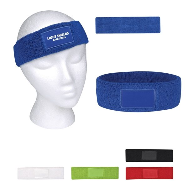Promotional Sweatband With Patch