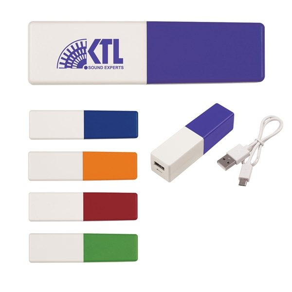Promotional UL Listed Two - Tone Power Bank
