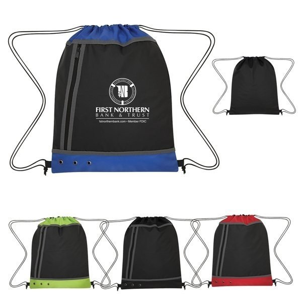 Promotional Tri - Tone Drawstring Sports Pack