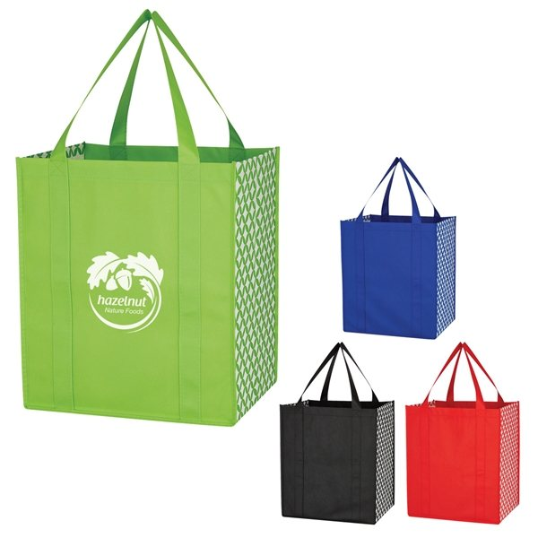 Promotional Non - Woven Curved Diamond Tote Bag