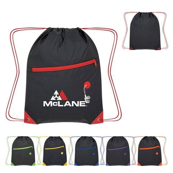Promotional Color Pop Drawstring Bag