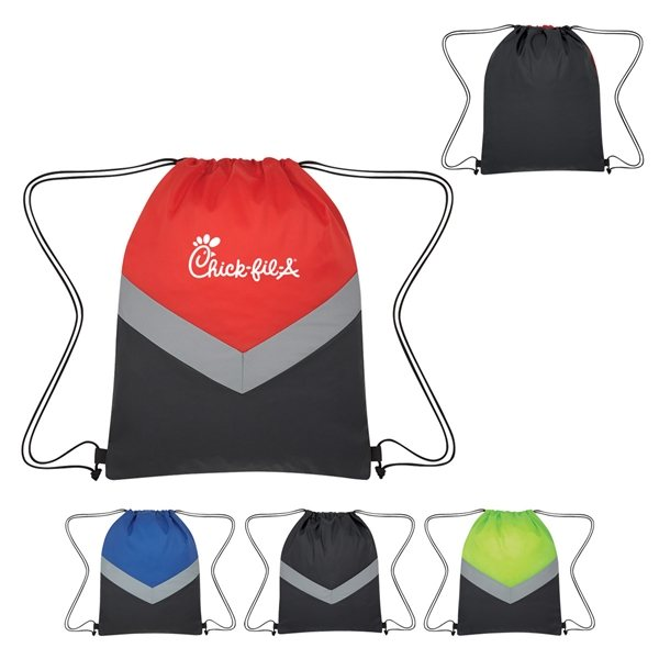 Promotional Reflective Stripe Drawstring Sports Pack