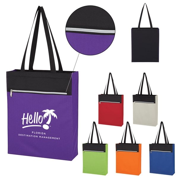 Promotional Polyester Cadence Tote Bag