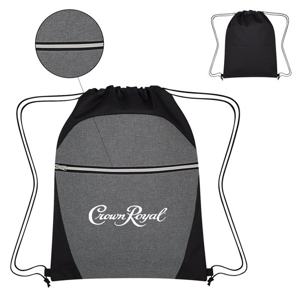 Promotional Heathered Two - Tone Drawstring Sports Pack