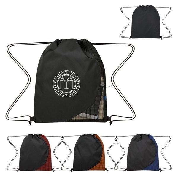 Promotional Grid Drawstring Sports Pack