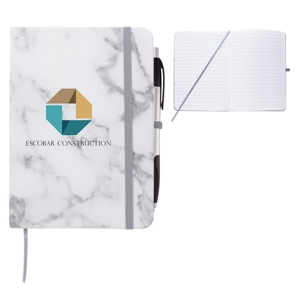 Promotional 5 x 7 Marbled Notebook