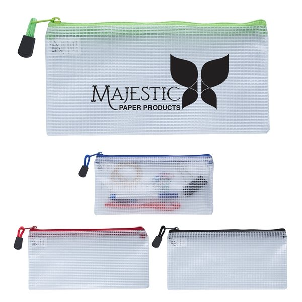 Promotional Clear Zippered Pencil Pouch