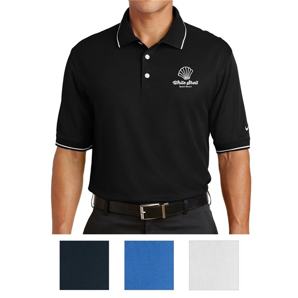 Promotional Nike Golf Dri - FIT Classic Tipped Polo