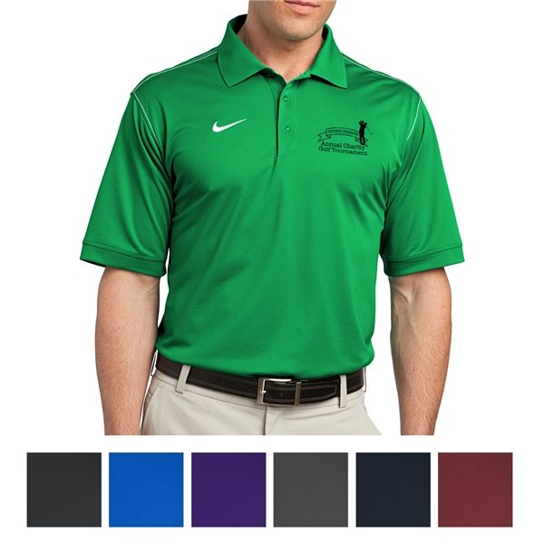 Promotional Nike Golf Dri - FIT Sport Swoosh Pique Polo