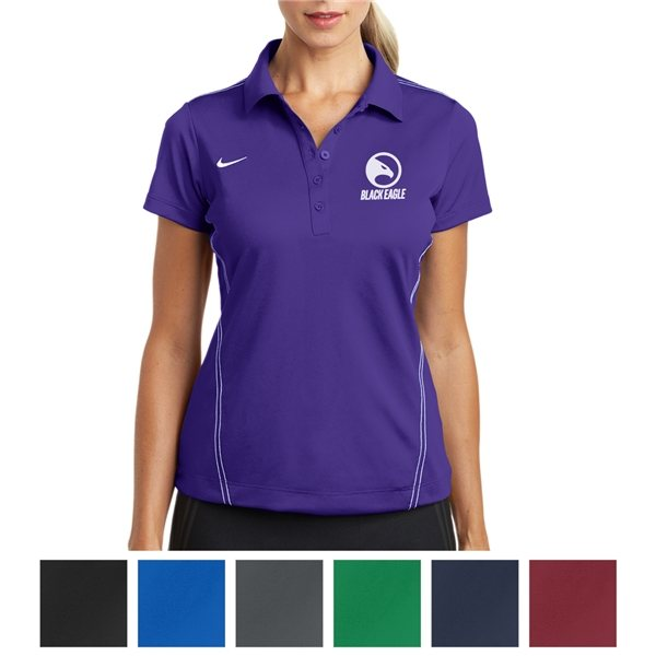 Promotional Nike Golf Ladies Dri - FIT Sport Swoosh Pique Polo
