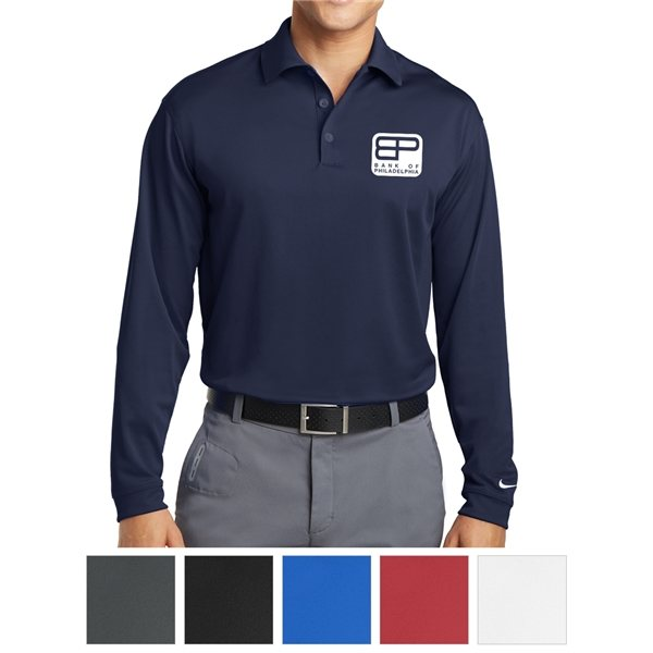 Promotional Nike Golf Long Sleeve Dri - FIT Stretch Tech Polo