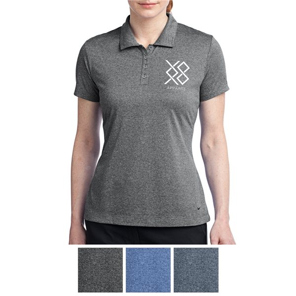 Promotional Nike Golf Ladies Dri - FIT Heather Polo