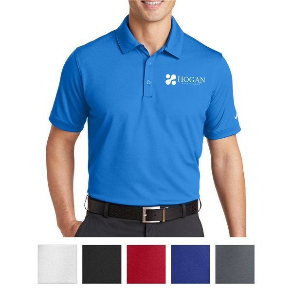 Promotional Nike Golf Dri - FIT Solid Icon Pique Modern Fit Polo