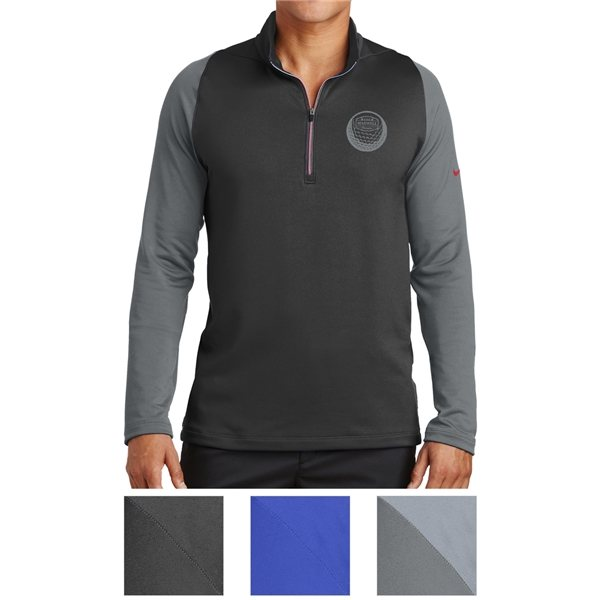 Promotional Nike Golf Dri - FIT Stretch 1/2- Zip Cover - Up