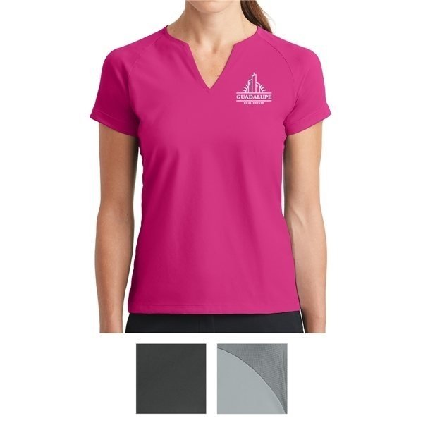 Promotional Nike Golf Ladies Dri - FIT Stretch Woven V - Neck Top